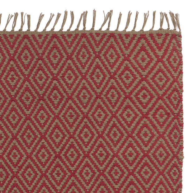 Dasheri Rug red, 100% jute