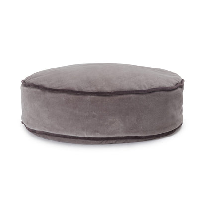 Deomali Pouf grey & dark grey, 100% cotton