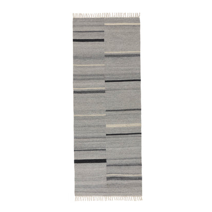 Dindori Runner in grey melange & charcoal | Home & Living inspiration | URBANARA