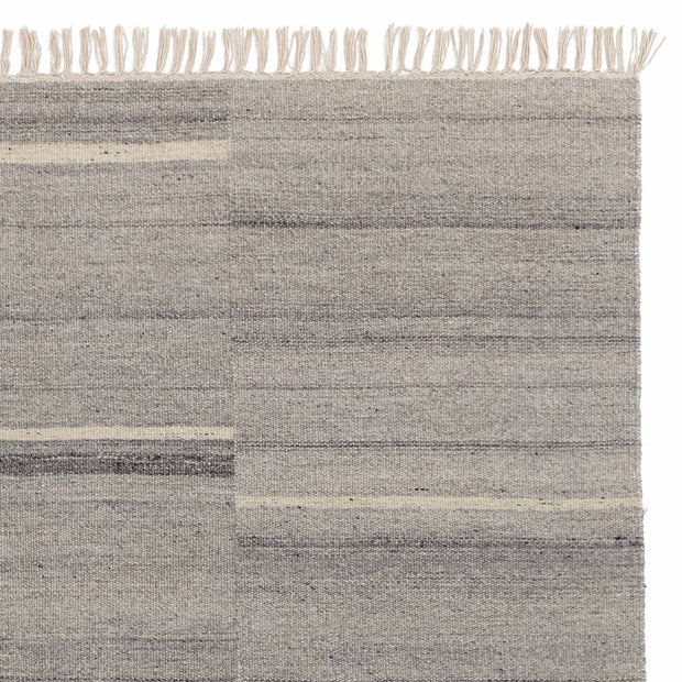 Dindori Rug grey melange & charcoal, 100% wool