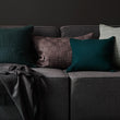 Akole Cushion dark grey, 100% linen | URBANARA cushion covers