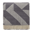 Farum Merino Blanket light grey & grey, 100% merino wool