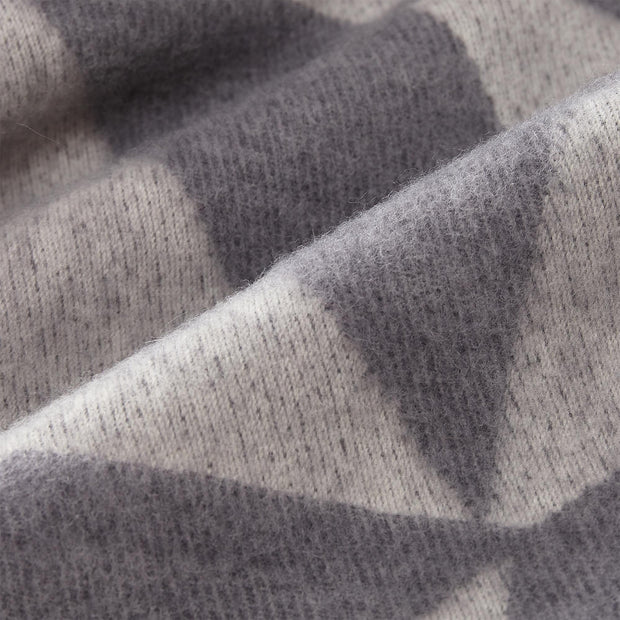 Farum Merino Blanket light grey & grey, 100% merino wool | Find the perfect wool blankets