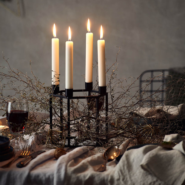 Indore candle holder in black | Home & Living inspiration | URBANARA