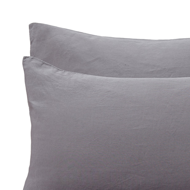 Figuera duvet cover, charcoal, 100% linen |High quality homewares