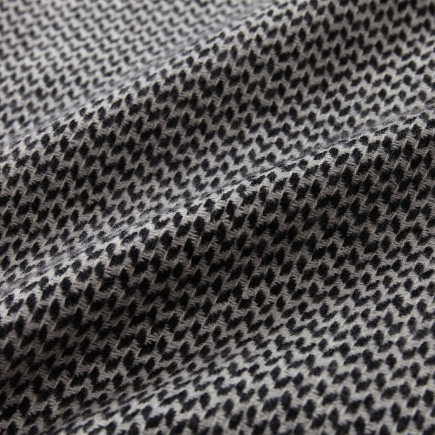 Foligno blanket, black & cream, 100% cashmere wool |High quality homewares