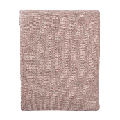 Freira Bedspread rosewood & natural white, 60% cotton & 40% linen