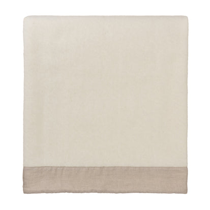 Fyn Blanket off-white & natural, 100% new wool