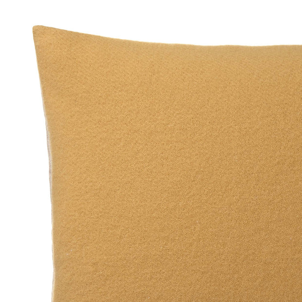 Fyn cushion cover, mustard & natural, 100% new wool & 100% linen | URBANARA cushion covers