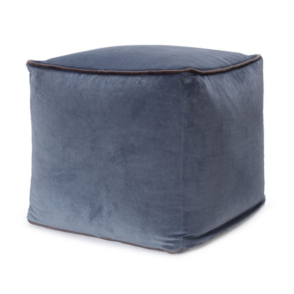 Godavari Pouf blue grey & grey, 100% cotton
