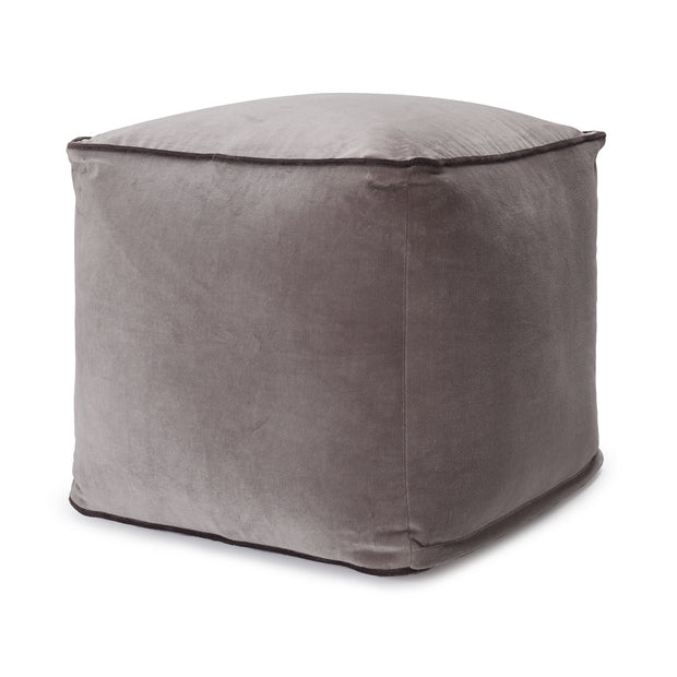 Godavari Pouf grey & dark grey, 100% cotton