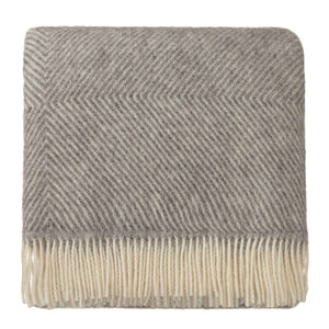 Gotland Wool Blanket [Grey/Cream]