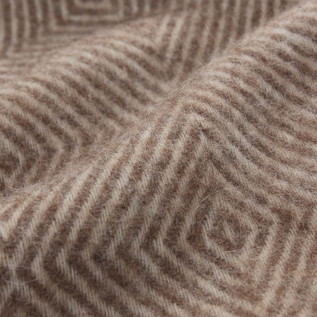 Gotland Dia Wool Blanket light brown & cream, 100% new wool | High quality homewares