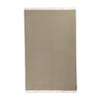 Gotland Blanket olive green & off-white, 100% new wool | URBANARA wool blankets