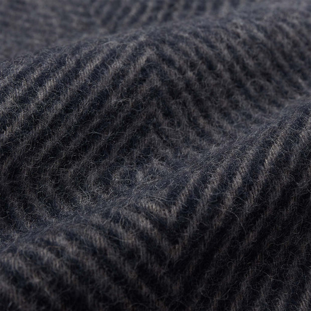 Gotland Dia Wool Blanket dark blue & grey, 100% new wool | High quality homewares