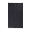 Gotland Dia Wool Blanket dark blue & grey, 100% new wool | URBANARA wool blankets