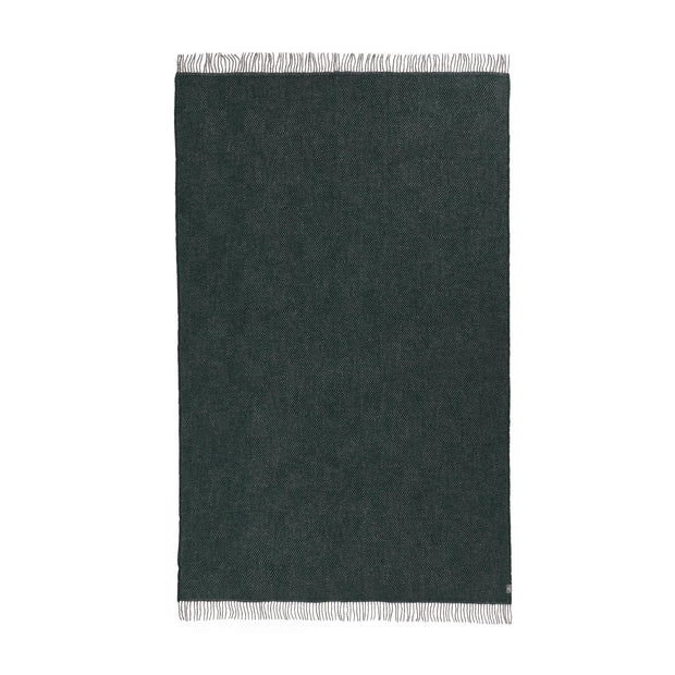 Gotland Dia Wool Blanket green & grey, 100% new wool | URBANARA wool blankets