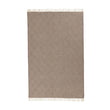 Gotland Dia Wool Blanket light brown & cream, 100% new wool | URBANARA wool blankets