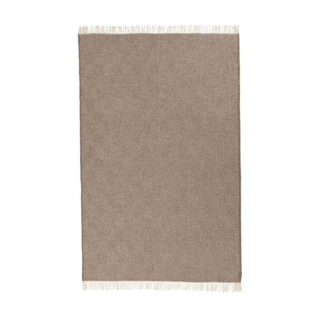 Gotland Dia Wool Blanket [Light brown/Cream]