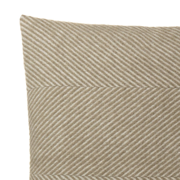 Gotland cushion cover, olive green & off-white, 100% new wool & 100% linen | URBANARA cushion covers