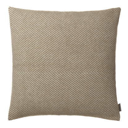 Gotland cushion cover, olive green & off-white, 100% new wool & 100% linen