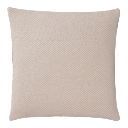 Gotland Cushion Cover powder pink & cream, 100% new wool & 100% linen