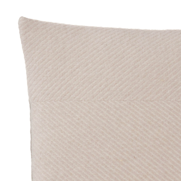 Gotland Cushion Cover powder pink & cream, 100% new wool & 100% linen | High quality homewares
