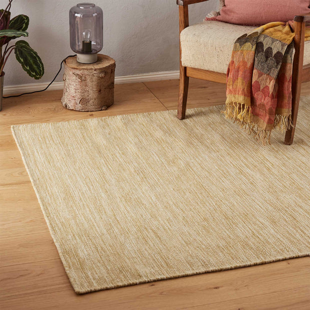 Gravlev Rug in mustard & off-white | Home & Living inspiration | URBANARA