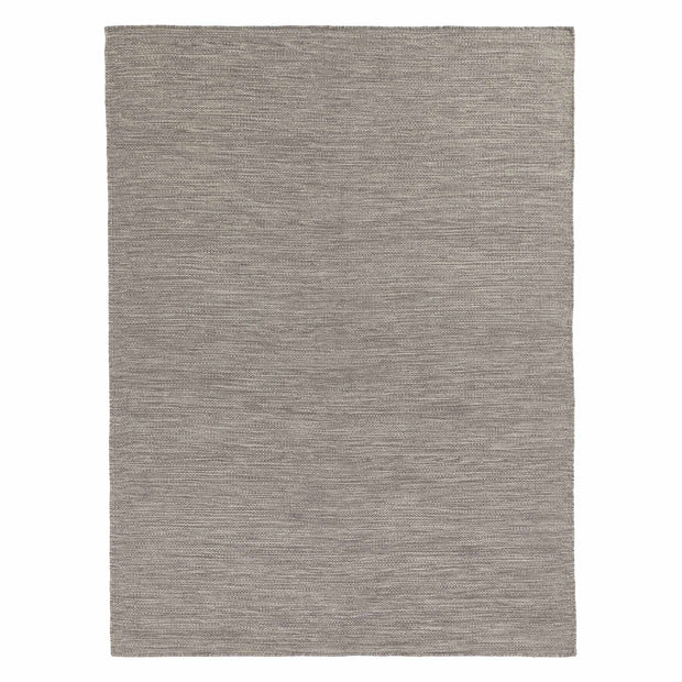 Gravlev Rug grey & light grey & off-white, 50% new wool & 50% cotton | URBANARA wool rugs