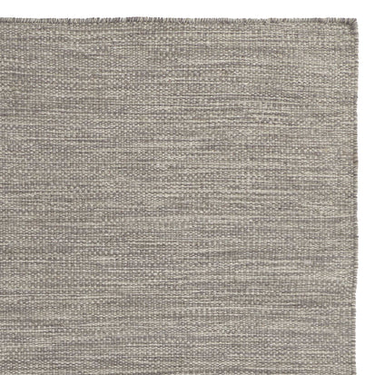 Gravlev Rug grey & light grey & off-white, 50% new wool & 50% cotton