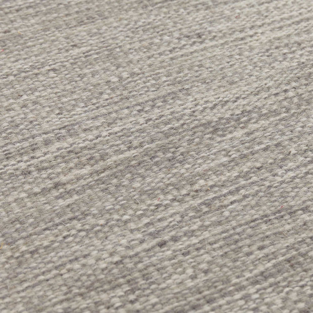 Gravlev Rug grey & light grey & off-white, 50% new wool & 50% cotton | High quality homewares