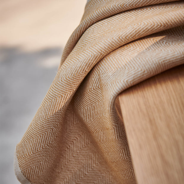 Ilhavo Towel in ochre & natural white | Home & Living inspiration | URBANARA