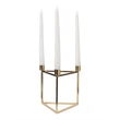 Indore candle holder brass, 100% metal