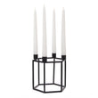 Indore candle holder black, 100% metal