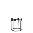 Indore candle holder black, 100% metal | URBANARA candles & scents
