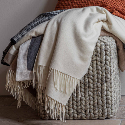 Almora Blanket in off-white | Home & Living inspiration | URBANARA