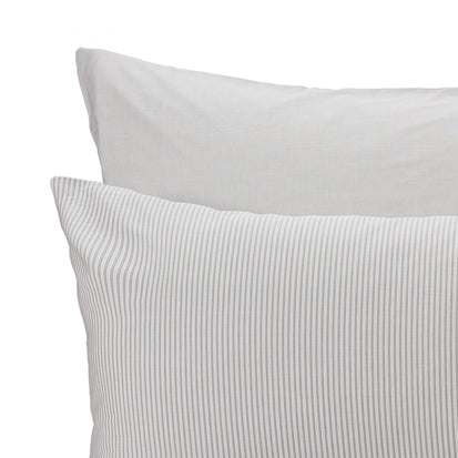 Izeda Duvet Cover in light grey & white | Home & Living inspiration | URBANARA