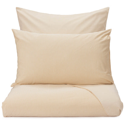 Izeda Duvet Cover mustard & white, 100% cotton