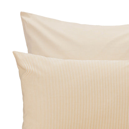Izeda Duvet Cover in mustard & white | Home & Living inspiration | URBANARA