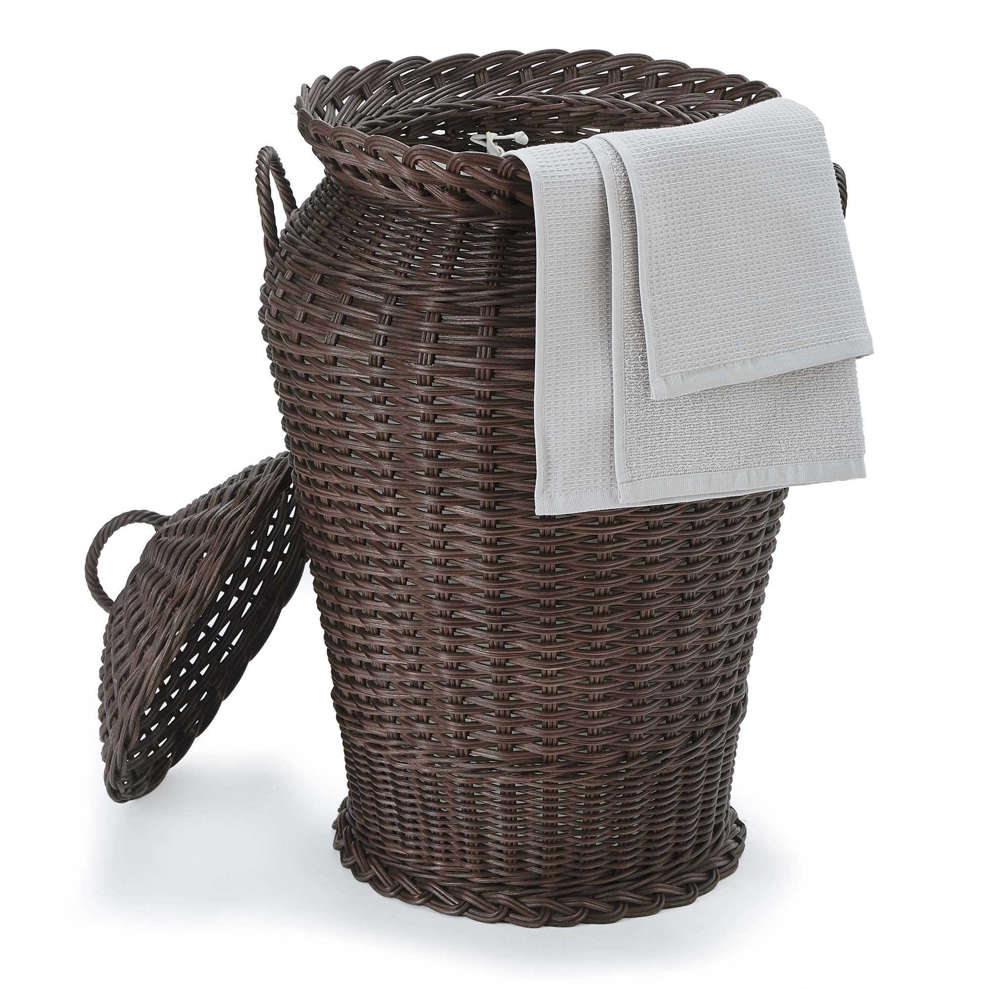 Java Laundry Basket Dark Brown 100 Rattan Urbanara