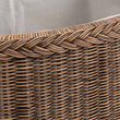 Java Laundry Basket dark brown, 100% rattan & 100% cotton | High quality homewares