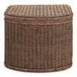 Java Laundry Basket dark brown, 100% rattan & 100% cotton