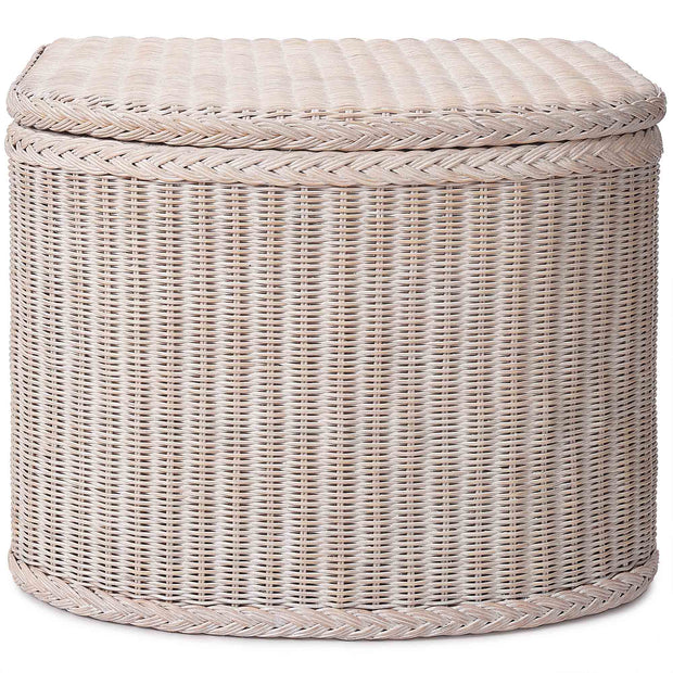 Java Laundry Basket chalk white, 100% rattan