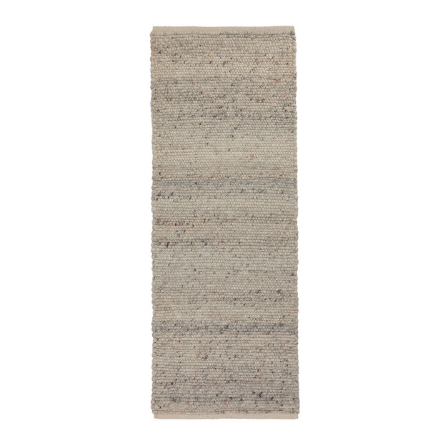 Jindas runner, silver grey, 65% wool & 35% cotton |High quality homewares