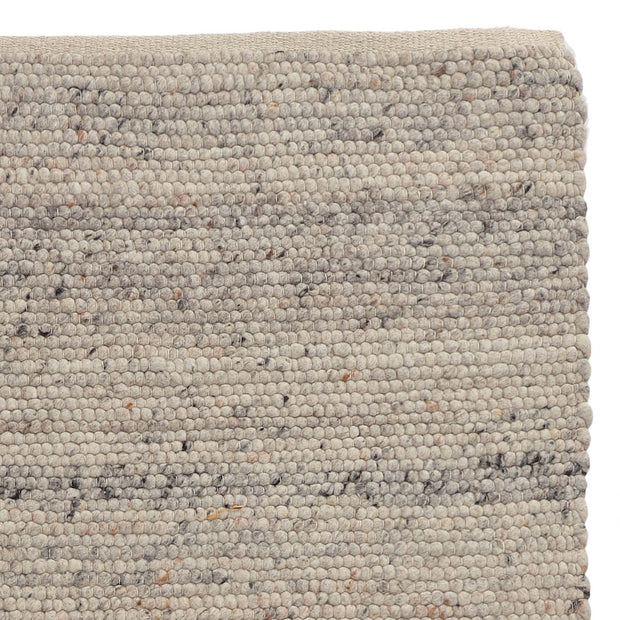 Jindas Rug silver grey, 65% wool & 35% cotton