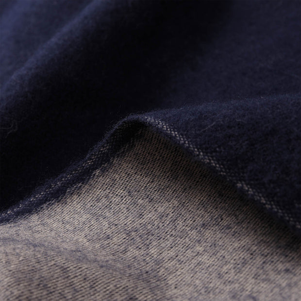 Jonava Merino Wool Blanket dark blue & natural, 100% merino wool | High quality homewares