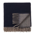Jonava Merino Wool Blanket dark blue & natural, 100% merino wool