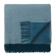 Jonava Merino Wool Blanket green grey & teal, 100% merino wool