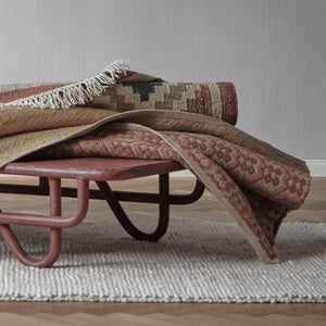 Nohar Rug in rust orange & sand & olive green | Home & Living inspiration | URBANARA