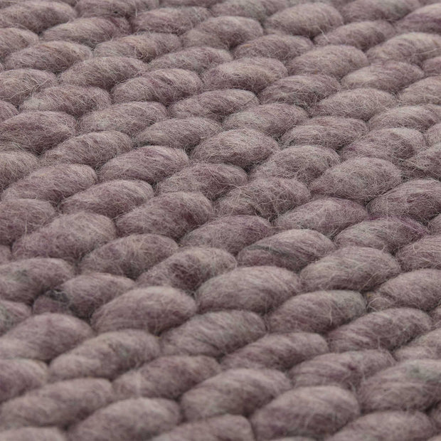 Kalu rug, grey melange, 48% wool & 52% cotton |High quality homewares
